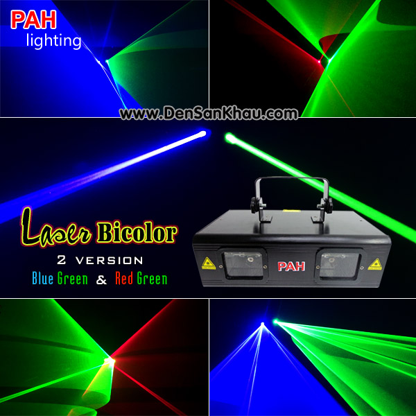 Đèn Disco Laser Bicolor Red Green