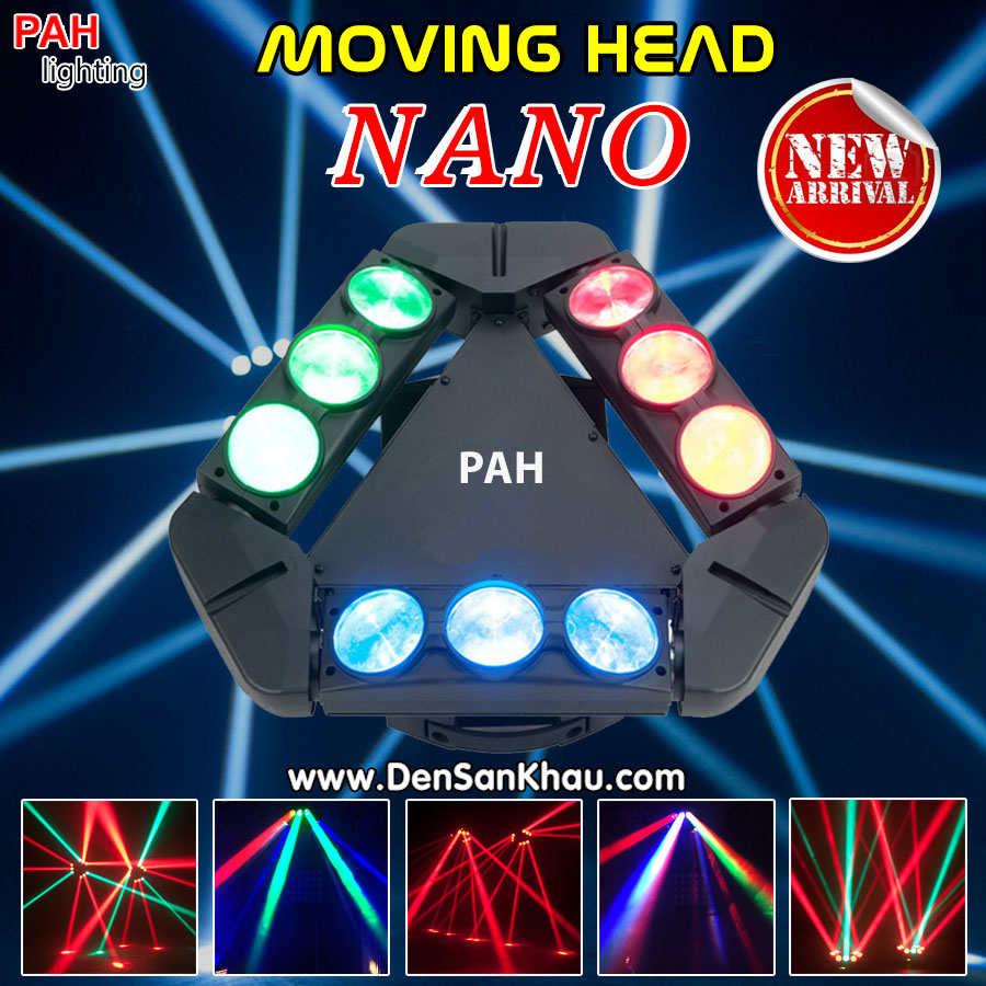 Đèn moving Nano 9 đầu cho bar club